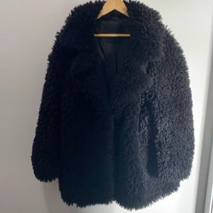 The SUPERDRY CHESTER Faux Fur Teddy bear coat